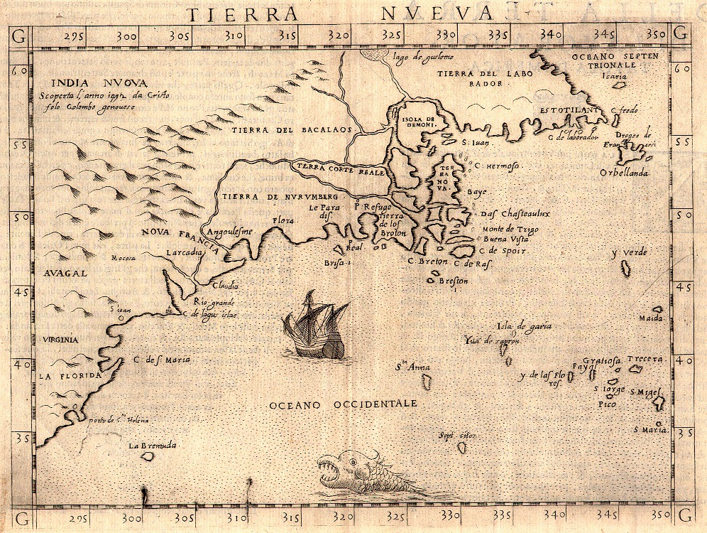 Oldest Map Of America.Historic Maps Of Newfoundland And Labrador